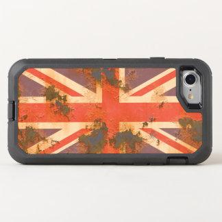 Capa Para iPhone 8/7 OtterBox Defender O vintage oxidou bandeira de Reino Unido
