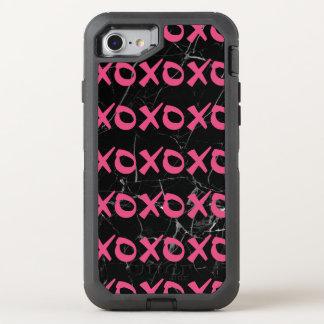 Capa Para iPhone 8/7 OtterBox Defender O xoxo feminino bonito do mármore do preto do rosa