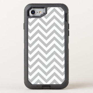 Capa Para iPhone 8/7 OtterBox Defender O ziguezague cinzento e branco listra o teste