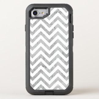 Capa Para iPhone 8/7 OtterBox Defender O ziguezague elegante da folha de prata listra o