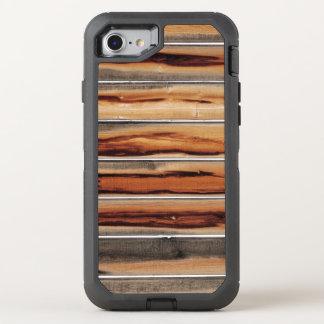 Capa Para iPhone 8/7 OtterBox Defender Original legal da textura de madeira da cerca
