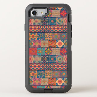 Capa Para iPhone 8/7 OtterBox Defender Ornamento de talavera do mosaico do vintage