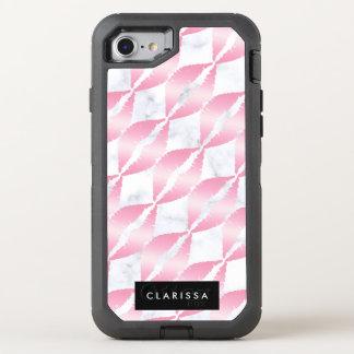 Capa Para iPhone 8/7 OtterBox Defender os lábios cor-de-rosa femininos elegantes do ouro