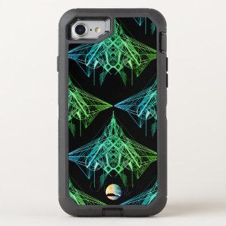 Capa Para iPhone 8/7 OtterBox Defender Otterbox de néon geométrico do iPhone 7 do