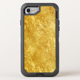 Capa Para iPhone 8/7 OtterBox Defender Ouro e teste padrão de mármore chapeado amarelo
