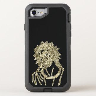 Capa Para iPhone 8/7 OtterBox Defender Ouro Jesus que olha acima ao deus que cintila