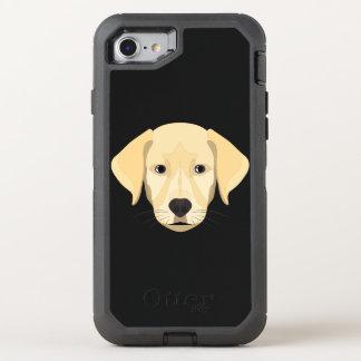 Capa Para iPhone 8/7 OtterBox Defender Ouro Retriver do filhote de cachorro da ilustração