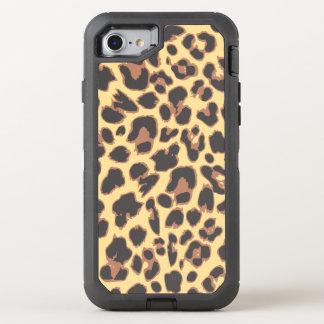 Capa Para iPhone 8/7 OtterBox Defender Padrões da pele animal do impressão do leopardo