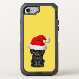 Capa Para iPhone 8/7 OtterBox Defender Pantera preta bonito Cub que veste um chapéu do