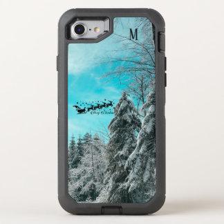 Capa Para iPhone 8/7 OtterBox Defender Papai noel que voa os feriados especiais dos