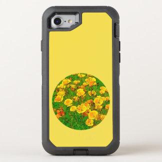 Capa Para iPhone 8/7 OtterBox Defender Papoilas de Califórnia alaranjadas 2.2_rd