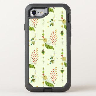 Capa Para iPhone 8/7 OtterBox Defender Pássaro asteca tribal étnico do vintage