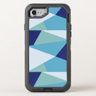 Capa Para iPhone 8/7 OtterBox Defender Pastel geométrico elegante dos azuis marinhos e do
