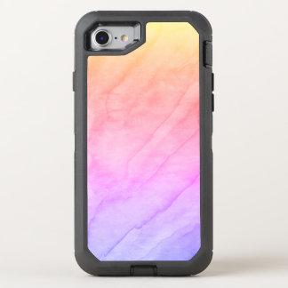 Capa Para iPhone 8/7 OtterBox Defender Pedra da aguarela de Shell da madrepérola