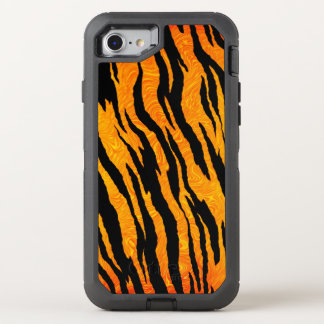 Capa Para iPhone 8/7 OtterBox Defender Pele clássica do tigre