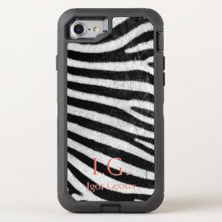 Capa Para iPhone 8/7 OtterBox Defender Pele da zebra