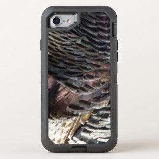 Capa Para iPhone 8/7 OtterBox Defender Penas selvagens de Turquia eu abstraio o design da