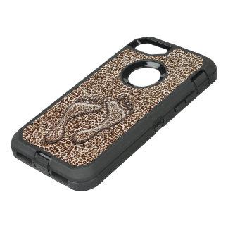 Capa Para iPhone 8/7 OtterBox Defender Pés do leopardo de neve