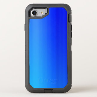 Capa Para iPhone 8/7 OtterBox Defender Pintura azul brilhante da aguarela de Ombre
