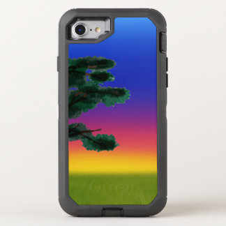 Capa Para iPhone 8/7 OtterBox Defender Por do sol do savana pelos Feliz Juul Empresa