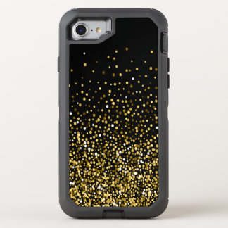 Capa Para iPhone 8/7 OtterBox Defender Preto & confetes do ouro