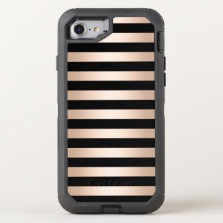 Capa Para iPhone 8/7 OtterBox Defender Preto cor-de-rosa do ouro do pintinho moderno