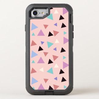 Capa Para iPhone 8/7 OtterBox Defender Preto roxo da hortelã do rosa geométrico elegante