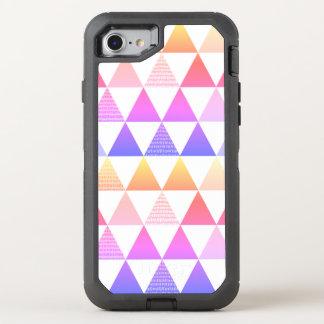 Capa Para iPhone 8/7 OtterBox Defender Prisma tribal do arco-íris da seta geométrico