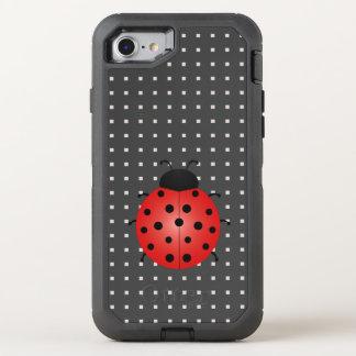 Capa Para iPhone 8/7 OtterBox Defender Quadrados pretos do teste padrão geométrico dos