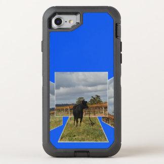 Capa Para iPhone 8/7 OtterBox Defender Quadros dimensionais da arte da vaca preta do