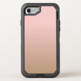 Capa Para iPhone 8/7 OtterBox Defender Quartzo cor-de-rosa e café congelado Ombre Brown