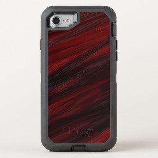 Capa Para iPhone 8/7 OtterBox Defender Raias diagonais vermelhas e pretas