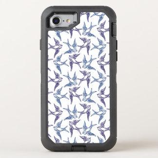 Capa Para iPhone 8/7 OtterBox Defender Rebanho de pássaros esboçados