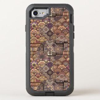 Capa Para iPhone 8/7 OtterBox Defender Retalhos do vintage com elementos florais da