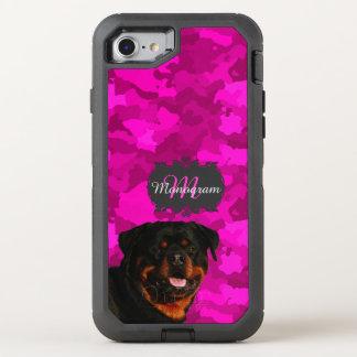 Capa Para iPhone 8/7 OtterBox Defender Rottweiler no rosa