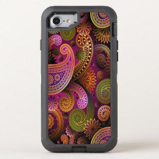 Capa Para iPhone 8/7 OtterBox Defender Roxo de Paisley