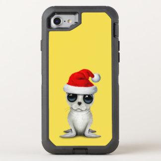 Capa Para iPhone 8/7 OtterBox Defender Selo ártico do bebê que veste um chapéu do papai