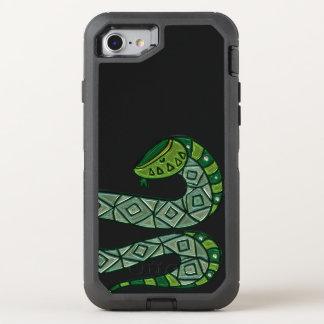 Capa Para iPhone 8/7 OtterBox Defender Serpente verde legal e na moda do cobra da forma