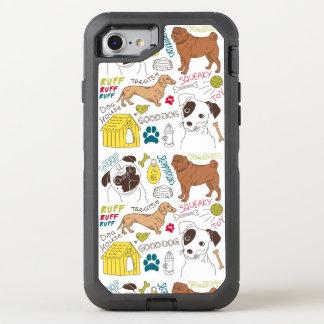 Capa Para iPhone 8/7 OtterBox Defender Seu uma capa de telefone do mundo dos cães