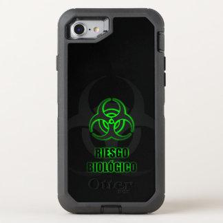 Capa Para iPhone 8/7 OtterBox Defender Símbolo Verde Brillante de Riesgo Biológico
