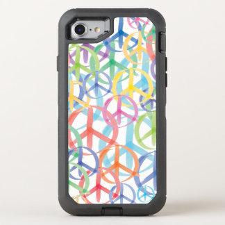 Capa Para iPhone 8/7 OtterBox Defender Sinais de paz delicados da cor