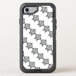 Capa Para iPhone 8/7 OtterBox Defender Tatuagem tribal do protetor da tartaruga