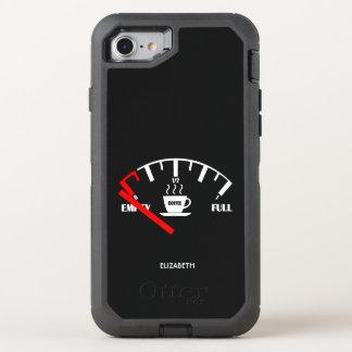 Capa Para iPhone 8/7 OtterBox Defender Tempo engraçado da caneca de café do calibre de