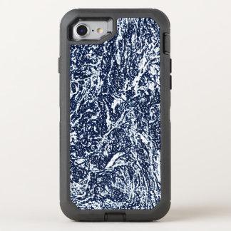 Capa Para iPhone 8/7 OtterBox Defender Teste padrão abstrato azul escuro