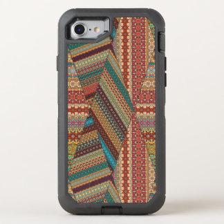 Capa Para iPhone 8/7 OtterBox Defender Teste padrão asteca tribal do vintage