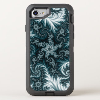 Capa Para iPhone 8/7 OtterBox Defender Teste padrão ciano e branco do fractal