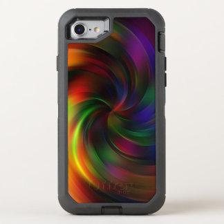 Capa Para iPhone 8/7 OtterBox Defender Teste padrão colorido bonito do redemoinho