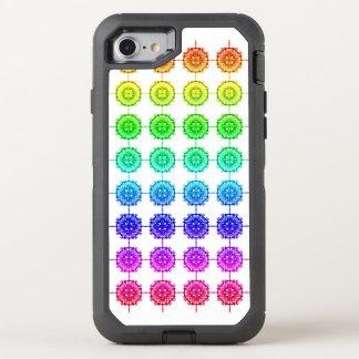 Capa Para iPhone 8/7 OtterBox Defender Teste padrão colorido do arco-íris