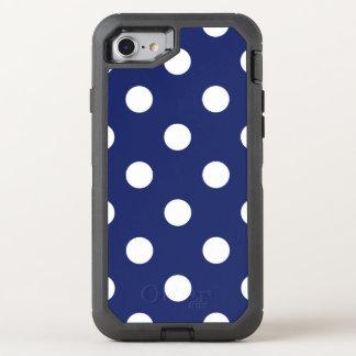 Capa Para iPhone 8/7 OtterBox Defender Teste padrão de bolinhas dos azuis marinhos e do
