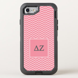 Capa Para iPhone 8/7 OtterBox Defender Teste padrão do Zeta | Chevron do delta